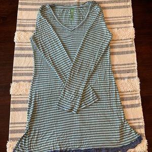 Grey and Aqua night dress